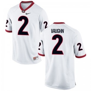 White Sam Vaughn Jerseys Georgia Bulldogs Game Mens