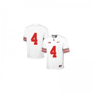 Men Santonio Holmes Jersey White Diamond Quest Patch Limited OSU Buckeyes Jersey