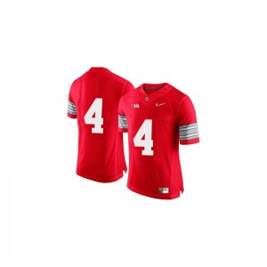 Youth Game Stitched OSU Buckeyes Jersey Santonio Holmes Red Diamond Quest Patch Jersey