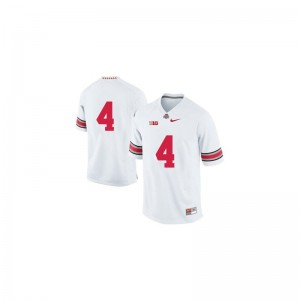 Santonio Holmes Game Jersey Kids Embroidery OSU Buckeyes White Jersey