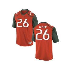Sean Taylor Mens Miami Hurricanes Jersey Orange_Green Game Jersey