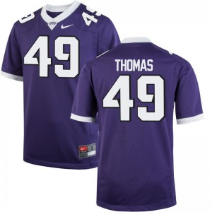 Horned Frogs Semaj Thomas Jerseys Men Game Jerseys - Purple