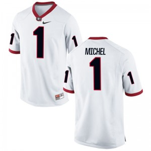 Game Georgia Bulldogs Sony Michel Men White Jerseys