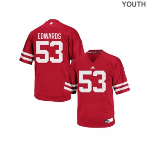 Wisconsin T.J. Edwards For Kids Replica Jersey Red