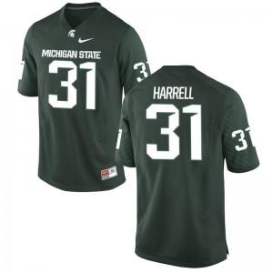 MSU T.J. Harrell Jersey Green Game Mens