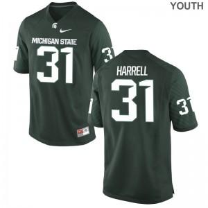 For Kids Game Spartans Jerseys T.J. Harrell Green Jerseys