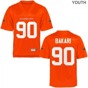 Taaj Bakari Youth OSU Cowboys Jersey Orange Limited Jersey