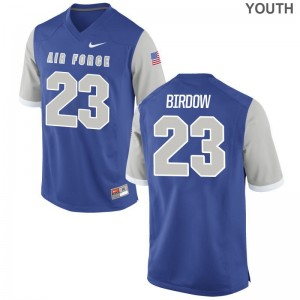 Taven Birdow Air Force Falcons Game For Kids Jersey - Royal