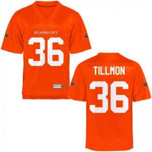 Oklahoma State Cowboys Limited Terry Tillmon Mens Orange Jersey