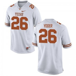 Men Limited Football University of Texas Jersey Tim Yoder White Jersey
