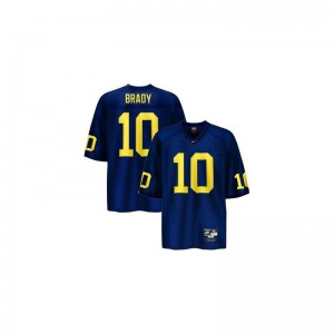 Tom Brady Michigan Wolverines Limited For Kids Jerseys - Blue