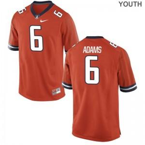 Illinois Tony Adams Game For Kids Jersey - Orange