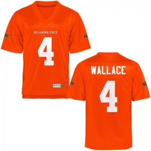 OK State Tracin Wallace Jerseys Men Limited Orange