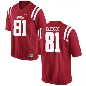 Ole Miss Trey Bledsoe Jersey Game For Men Jersey - Red