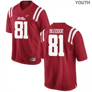 Rebels Youth Red Game Trey Bledsoe Jerseys