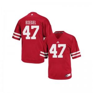 Vince Biegel Men Red Jersey UW Authentic