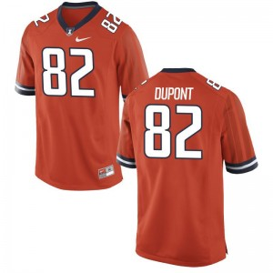 William DuPont University of Illinois Jerseys Game Orange For Men