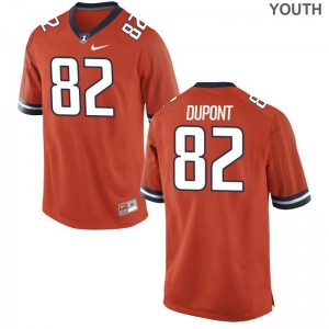 Illinois Fighting Illini Kids Game William DuPont Jerseys - Orange