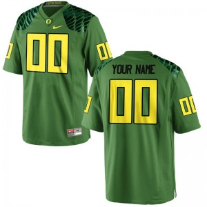 Ducks Customized Jerseys Football For Kids Limited Apple Green Alternate Customized Jerseys
