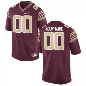 Limited Customized Jersey FSU For Kids Garnet