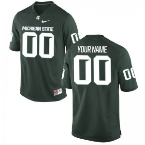 Michigan State Custom Jersey Green Limited For Kids