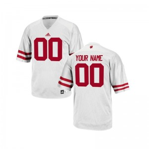 Limited Kids Wisconsin Custom Jersey of - White