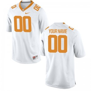 Kids Custom Jersey White Tennessee Limited