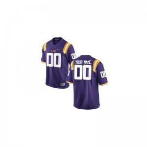 Purple Limited Custom Jerseys Youth(Kids) LSU Tigers