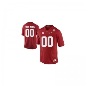 Youth Alabama Custom Jersey Red 2013 BCS Patch Limited Official Custom Jersey