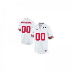 Ohio State Kids Custom Jersey White 2015 Patch Limited Custom Jersey