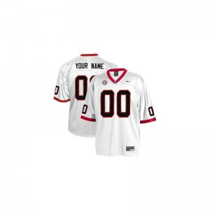 Georgia Custom Jerseys White Kids Limited
