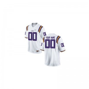 LSU Limited Customized Jersey White Youth(Kids)