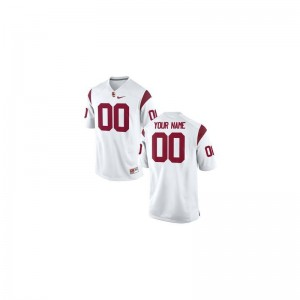 Trojans Custom Jerseys Limited White Youth
