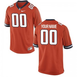 Limited Illinois Fighting Illini For Kids Orange Customized Jerseys