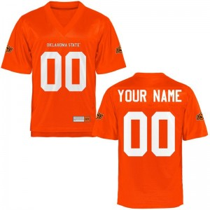 Oklahoma State Youth(Kids) Embroidery Custom Jerseys - Orange