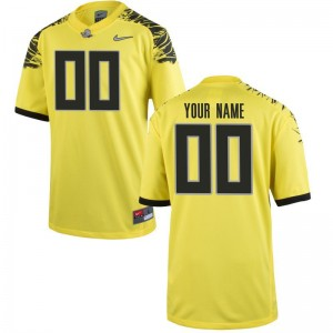 Oregon Ducks For Kids Limited Custom Jerseys - Yellow
