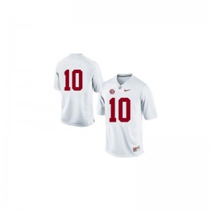 AJ McCarron Bama Jersey #10 White Limited Youth