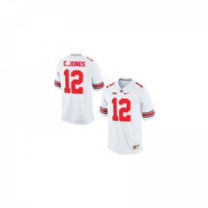 Game #12 White Cardale Jones Jerseys Youth(Kids) Ohio State
