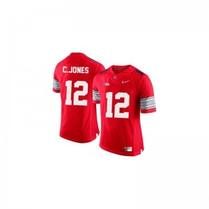 Limited Cardale Jones Jersey Ohio State Kids - #12 Red Diamond Quest Patch