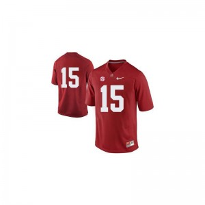 Alabama Game JK Scott For Kids Jerseys - #15 Red