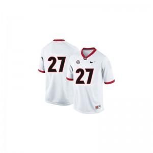 Nick Chubb Jersey Georgia Bulldogs #27 White Game Kids Jersey