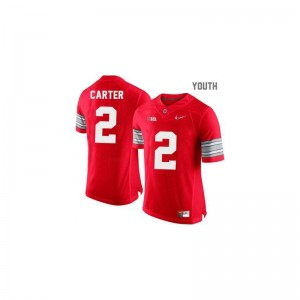 Limited Cris Carter Jersey For Kids Ohio State - #2 Red Diamond Quest Patch