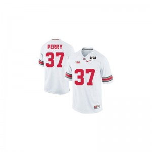 Ohio State Joshua Perry Jersey Youth(Kids) Limited Jersey - #37 White Diamond Quest 2015 Patch