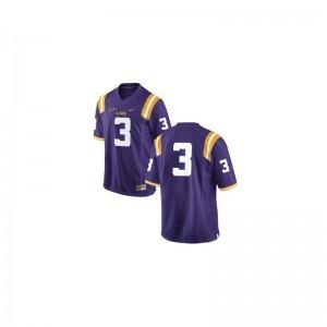 LSU Tigers Youth(Kids) Limited #3 Purple Kevin Faulk Jersey