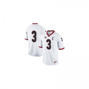 Kids Todd Gurley Jerseys Georgia #3 White Limited