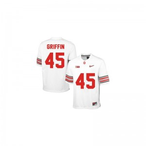 Archie Griffin OSU Jersey #45 White Diamond Quest Patch Game Youth(Kids)