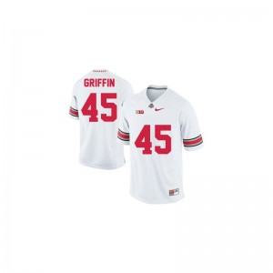 OSU Archie Griffin Youth Limited Stitched Jersey #45 White