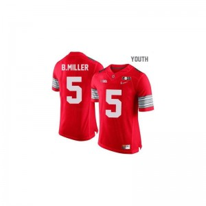 Ohio State Braxton Miller Game Youth(Kids) Football Jersey - #5 Red Diamond Quest National Champions Patch
