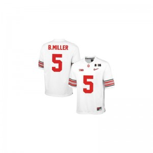 Braxton Miller For Kids #5 White Diamond Quest 2015 Patch Jersey Ohio State Game