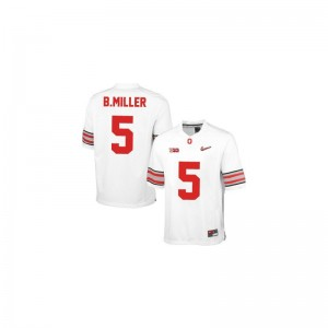 Braxton Miller Ohio State Jersey #5 White Diamond Quest Patch Youth(Kids) Game